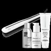 L'Oréal Steampod 3.0 Bundel - Set: Steampod, Smoothing Milk (fijn haar), Protecting Concentrate, TecniArt Constructor