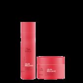 Wella Invigo Color Brilliance Bundel: Fine/Normal Shampoo + Masker