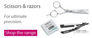 Tondeo scissors and razors